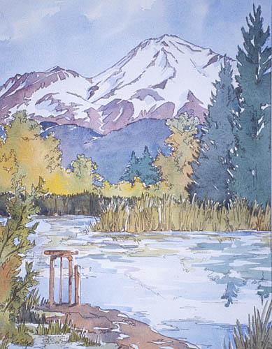 Kim Solga Paintings Landscapes Mount Shasta California