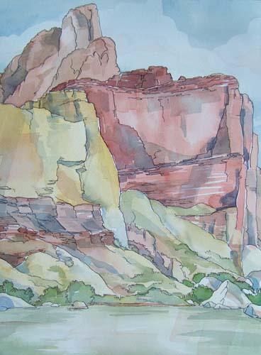 Grand Canyon watercolor painting