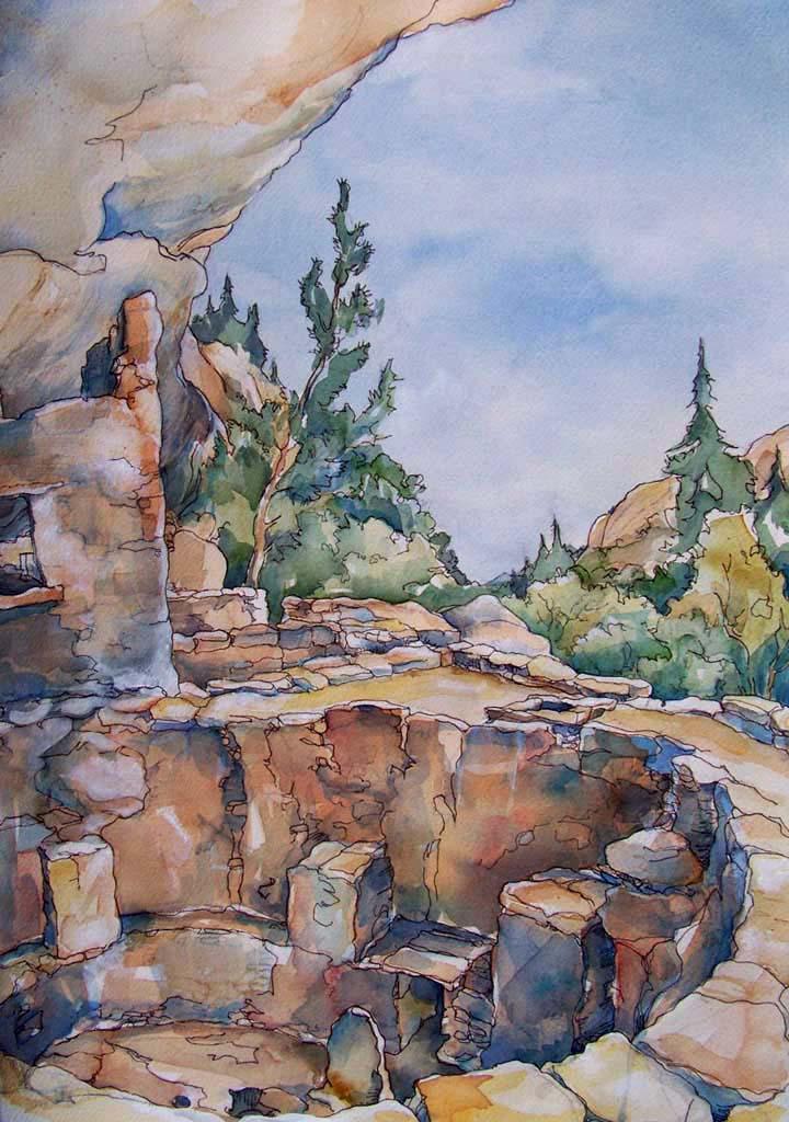 Kiva At Mesa Verde Spruce Tree House Kim Solga Artworks